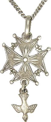 silver Huguenot pendant